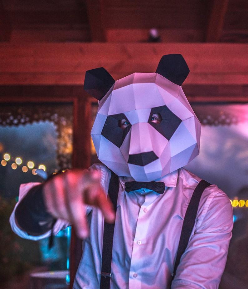 Cabeza panda de Exel Eventos